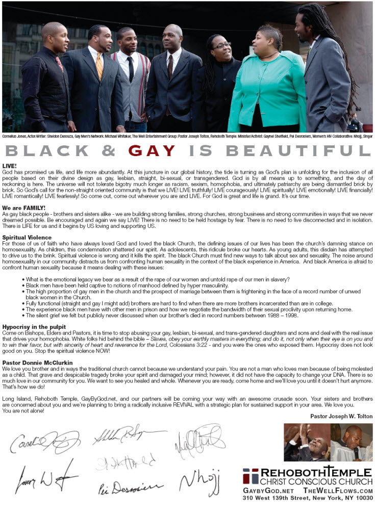 Gay by God Ad in Metro Weekly NY