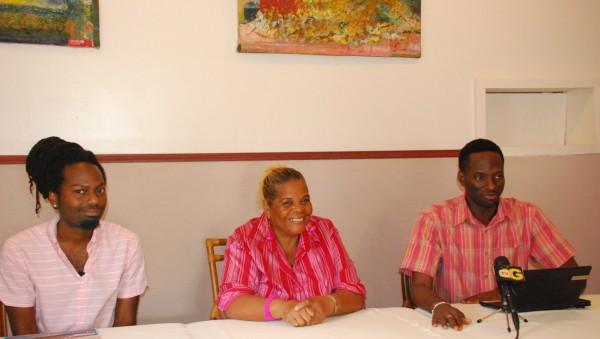 Left to Right:  Nhojj, Co-Chairs, Namela Baynes-Rowe and Joel Simpson (Courtesy of SASOD)