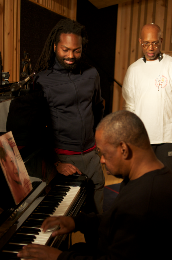 onaje allan gumbs nhojj john adams 600x903 Recording New Album Behind Scenes Photos recording sessions